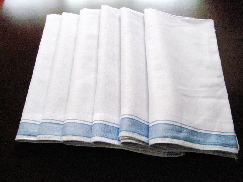 12 pieces / one dozen large size 42cm x 42cm classic pattern 100% cotton handkerchiefs ( QS )(China (Mainland))