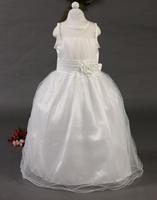 free shipping latest style girls flower girls stitching gauze jumpsuit long paragraph, kids dress Children clothes