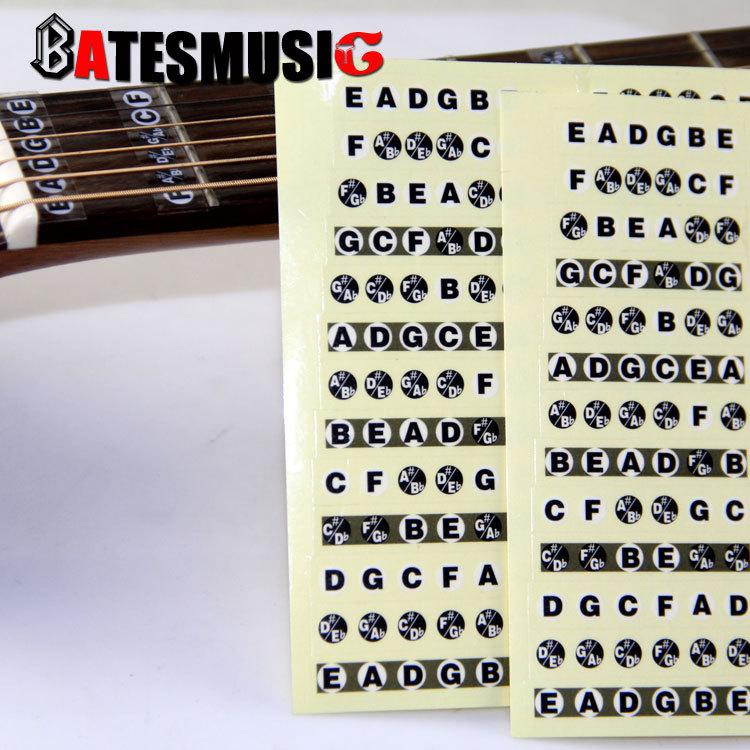 Note de Musique Sur Manche Guitare Manche de Guitare Musique