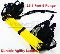 5M 16.5 Feet 9 Runge Durable Agility Ladder Soccer Speed Football Basketball Fitness Feet Quick Flat Training Ladder Top Quality
