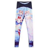 2015 Fashion Women Legging Sailor Moon Transfiguration Printed Leggings Fitness Sport Pants Ladies Jeggins S106-642