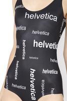 New Sexy Sleeveless Summer Beach Wear HELVETICA SWIMSUIT Printed Swimwear Women one piece Bathing Suit S125-230