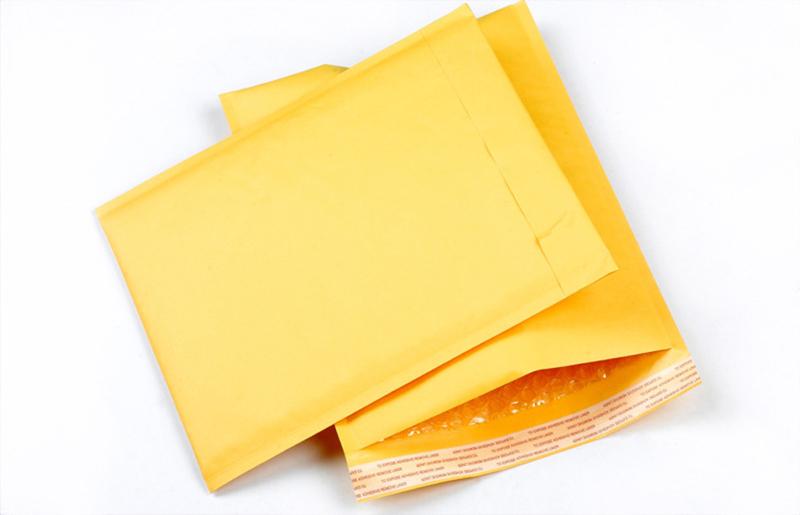 Good Quality Kraft Bubble Bag 10PCS 170*290+40mm Kraft Mailing Bags Bubble Bag Padded Envelopes Mailers Shipping Yellow Bags(China (Mainland))