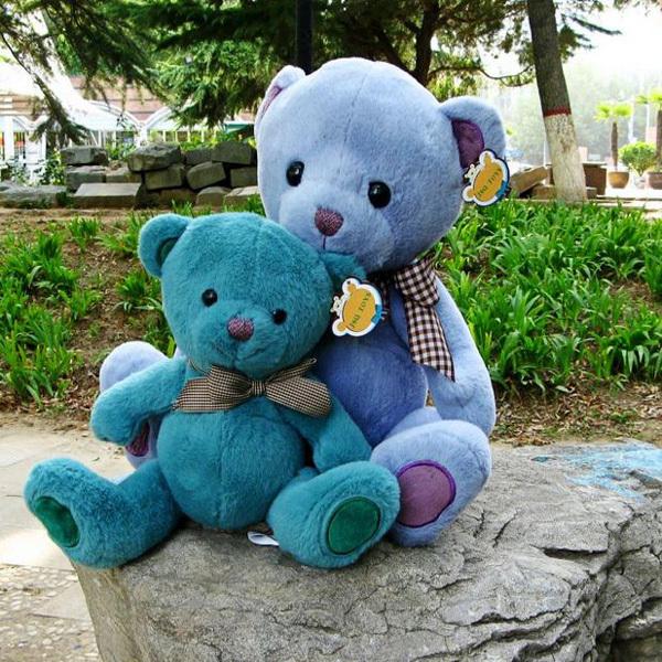 Brinquedos Multicolor Stuffed Teddy Bear 35cm Kawaii Big Plush Teddy Bears Soft Toy Valentine's Day Gift(China (Mainland))