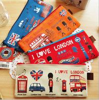4 pcs/lot New vintage love london series A4 Document Bag / large File bag Canvas Pouch