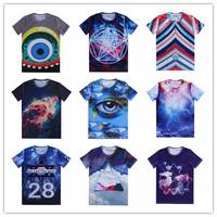 (Alice)Nice Flowers tshirts for women/men short sleeve o neck casual t shirt panda/dog/cat print 3d t shirt size S-XXL