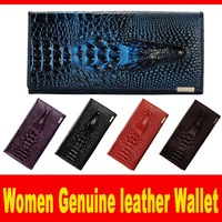 2015 New Women Fashion Wallet Genuine Leather vintage Long section wallet for women's Candy colors Retro style wallets