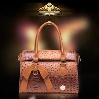 HOT 2014 The New Fashion High Quality Clutches Bag Women'S Handbag High-End Ostrich Grain Bowknot Bag Single Shoulder Bag W147