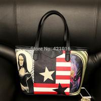 2015 new arrival woman bag ladies fashion quatity fashion handbags PU DIY picture shoulder bags for woman casual bag hot sale