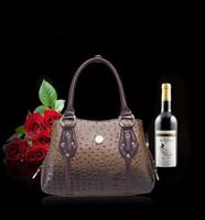 brand women handbag fashion Ostrich grain leather Shoulder bags women messenger bags Europe style Ladies Tote bags W144