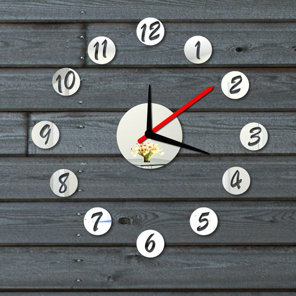Фото - Стикеры для стен OEM DIY Mirror Wall Clock стикеры для стен oem diy 49022 black vine wall stickers