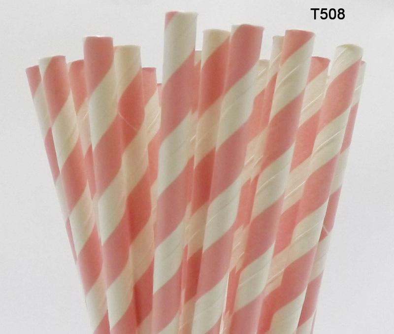 Pink Striped Paper Straws Pink Stripe Paper Straws
