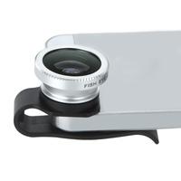 Universal Detachable Clip-on Telephoto Fisheye Lens for iPhone 4 4S 5  Fish Eye Photo Kit E5