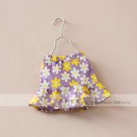 New 2015 summer girls fashion floral skirt baby girls cotton skirt 5pcs/lot