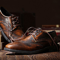 british style men pointed toe black brown shoes patent leather dress wingtips oxford shoes formal wedding zapatos hombre