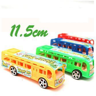 Grátis frete melhores vendedores 4 pçs/lote deslizando modelo de ônibus brinquedos do bebê presente atacado o menino amor entre pais e filhos interação(China (Mainland))