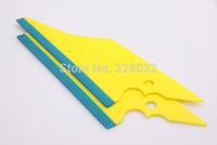 Car 3D Carbon Fiber Vinyl Film Wrap Stick Tool Pistol Shape Squeegee Scraper with Blue Edge 5pcs free shipping