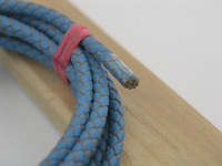 FREE SHIPPING 10Yards 5.0mm Sky Blue Bolo Braided Real Leather Cord Beading Bracelets