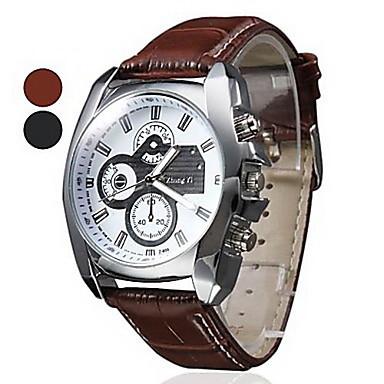 Fashion Man Watch Clock Male Dial Casual Leather Analog Quartz hour Casual Wristwatch 2015 Hot sale(China (Mainland))