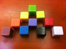 6 двусторонняя пустой кости 16 мм квадрат углы лёгкие доска окрашенный кубики весело образовательный игрушка украшение 100 pcs/lot # W63