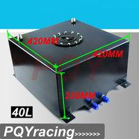 J2 RACING STORE-BLACK Aluminium Fuel Surge tank mirror polish Fuel cell 40L w/o sensor foam inside PQY-TK21BK