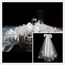 Grátis frete chegada nova alta qualidade Hot selling elegante Flower Girl primeira comunhão flor longo véu para o casamento(China (Mainland))