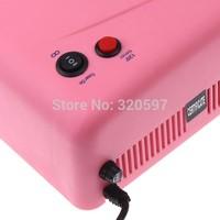Free shipping  High quality   36W gel curing nail uv lamp 110V-120V Pink 4X9W Light Tube Nail Dryer  CE ROHS