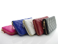 New arrive purse long style PU leather cheap women purse multifunctional women wallet with zipper