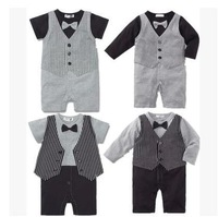 New 2015 Baby Boys Romper Children Clothes Kid Clothing baby boys gentleman clothes romper child kids wear 4pieces/lot