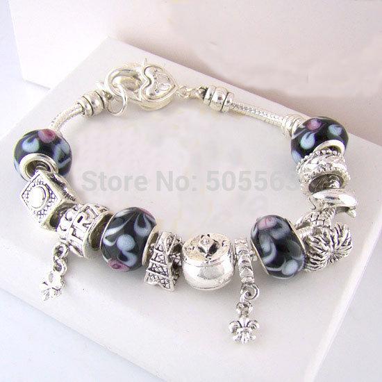 free shipping,Fashion jewelry,925 Sterling Silver Bracelet, Bangle, European Charm Beads Fits Pandora  Bracelets