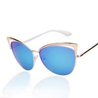 sunglasses women  metel frame designer 5 colors sun glasses men UV400 eye glasses female sport  2014 cat eye sunglasses JHSG018