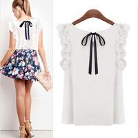 Feitong Slim Summer Womens Sleeveless Blouse Casual Chiffon Tank Tops T-Shirt Freeshipping&wholesale