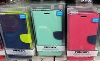 100x For iphone4 5 5s 4s 5c Mercury Fancy Diary Wallet Stand Leather Case Credit Card Case Cover Free DHL/Fedex Shipping