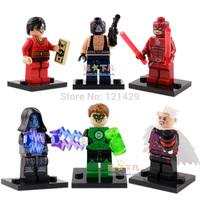 2015 new Mini Figure 6pcs/lot avenger super hero daredevil electro bane plastic man Building Blocks toy birthday gift free ship