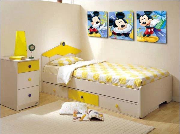 Online kopen wholesale mickey mouse schilderij uit china mickey mouse schilderij groothandel - Deco schilderij slaapkamer kind ...
