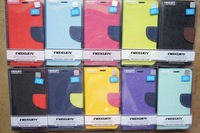 100pcs/lot Mercury Case for Samsung Galaxy S3 S4 S5 Luxury PU Leather Cover Case With Wallet Pocket For i9300 i9500 i9600