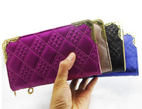 New arrive women change purse long style PU leather big wallet for women candy color women coin purse