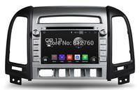 Free shipping Android 4.4.4 Car DVD GPS for Hyundai SANTA FE 2006-2012 CPU 1.6Ghz,Capacitive screen,Radio RDS,BT,TV,IPOD,Wifi,3G