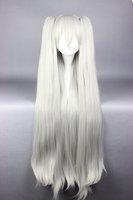 100cm Long White Ponytails Kantai Collection KanColle-Kitakami  Cosplay Party Costume Full Wig Fashion Women Syle