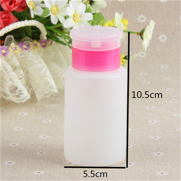 1PCS Makeup Bottles Pump Dispenser Art Polish Remover Cleaner Acetone Nail Tools Remove Bottle Women Beauty Accessory Portable(China (Mainland))