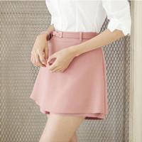 2015 Woman Summer Shorts Fitness Chiffon Solid Pants High Waist Tiered Short Trousers Ruffles Culotte Shorts Plus Size 1501183