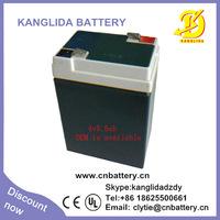 4v 5.5ah 6ah rechargeable lead acid ups battery