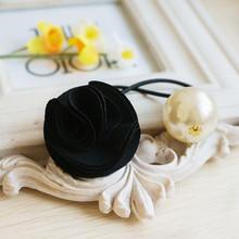 6903 Free shipping Korea hair ring for women girl fashion flower rose Pearl hair tie