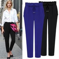 2015 Spring Summer Clothing Women Fashion Pants Elastic Waist Harem Pants Casual Loose trousers Plus Size XXL  For Women 1501186
