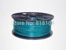 Green color 3d printer filaments ABS 1.75mm/3mm 1kg plastic Rubber Consumables Material