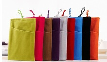 (2pcs/lot) Soft Velvet Cotton Fabric Cell Phone Pouch Bag Cover Case For iPhone 5 5s 6 6plus Samsung S4 S5 NOTE3 NOTE4 HUAWEI(China (Mainland))