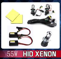 55W 12V  Xenon Hid Kit  H4 HID xenon Hi/Lo Bulb bi-xenon slim ballast block headlight lamp bulb car light