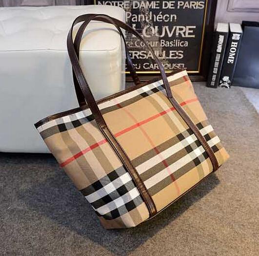 Fashion personality stripe canvas handbag women's plaid brief bag all-match shoulder bag large bags british style free shipping(China (Mainland))