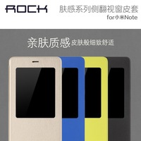 ROCK Brand Window Design Ultra-Slim pu Flip Case For Xiaomi Note, With retail box, 1pc freeship