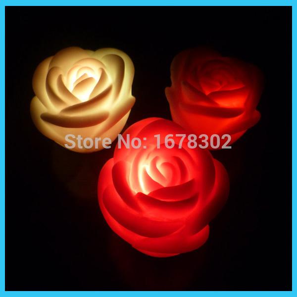 led table wedding CR2032 ,China rose light,colorful(China (Mainland))